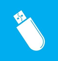 usb icon2 vector image