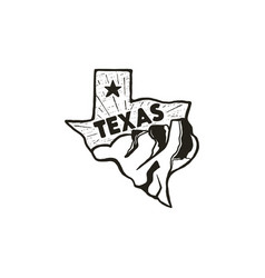 Vintage hand drawn texas badge state badge united vector