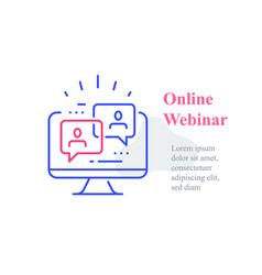 Webinar concept online course distant education vector