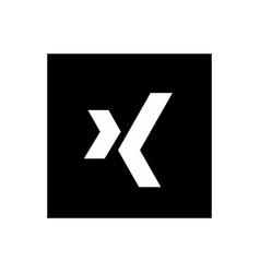 Xing icon design vector
