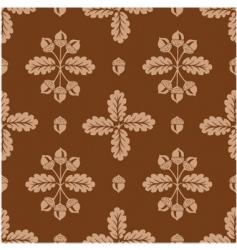 acorn pattern vector image vector image