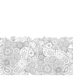 Doodle pattern black and white vector image vector image