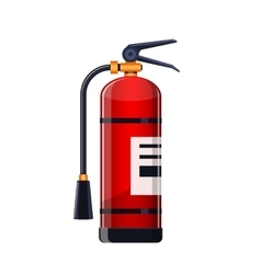 Realistic Fire extinguisher icon isolated on white vector image vector image