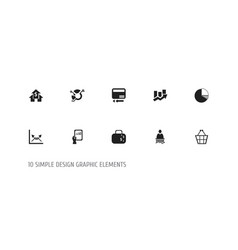Set of 10 editable logical icons includes symbols vector