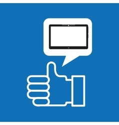 technology hand like social media design vector image