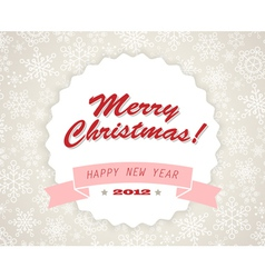 vinatage christmas card vector image