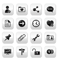 Website navigation buttons set vector image vector image