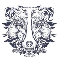 dog head abstract vector image