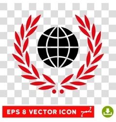 Global Emblem Eps Icon vector image