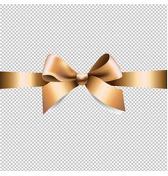 golden ribbon bow vector image vector image