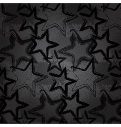 Grunge rock star background brush smear stars vector image