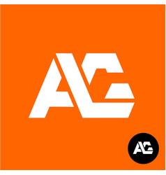 letters a and g ligature logo two letters ag sign vector image