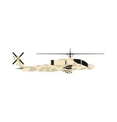 Military helicopter UH-60 hawk flat render air vector image vector image