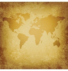 old World map blank template vector image vector image
