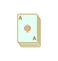 Ace of spades playing cards icon cartoon style vector image vector image