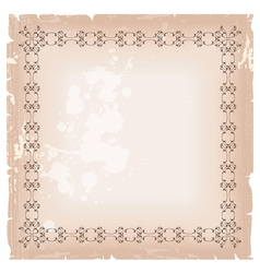 blank banner frame template vector image vector image