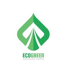 eco green logo template concept vector image vector image
