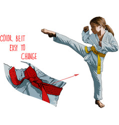 karateka girl vector image vector image