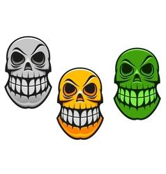 Monster skull vector image vector image