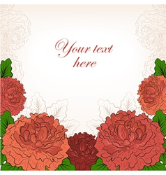 Abstract romantic background with peonies vector image vector image