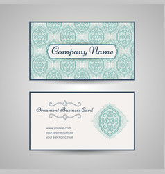 arabic style business card template vector image vector image