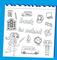 Back to school - set vector image