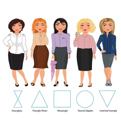 Five Figures business vector image vector image
