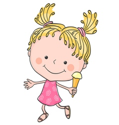 girl ice cream 2 vector image