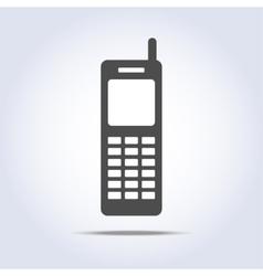 Phone retro icon gray colors vector image vector image