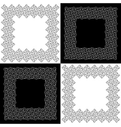 Set of four lacy floral frames vector