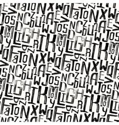 Vintage style pattern uneven grunge letters vector image