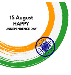 15 august happy india independence day holiday vector