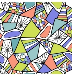 Abstract seamless pattern Colorful doodle vector