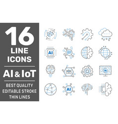 ai iiot iot cloud computing cognitive vector image