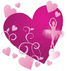 ballerin magenta heart vector image