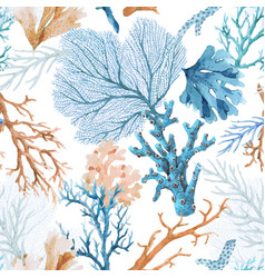 Beautiful seamless underwater pattern with vector