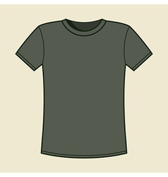 Blank gray t-shirt template vector image
