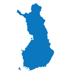 Blue similar blank finland map isolated on white b vector