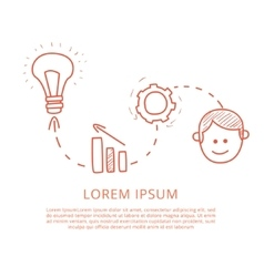 Brainstorm Process Funny Hand Drawn vector