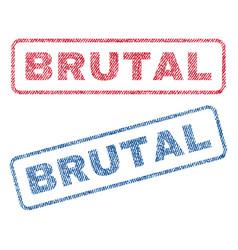 Brutal textile stamps vector