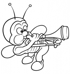 Bug and trombone vector