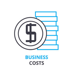 business costs concept outline icon linear sign vector image