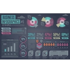 Business Infographic elements Graph icon vector image