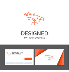Business logo template for telescope astronomy vector