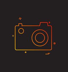 cam pic picture photo icon design vector image