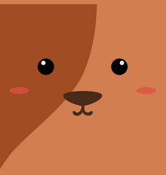 Cartoon dog background vector