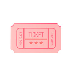 check with stars and numbers pink ticket vector image
