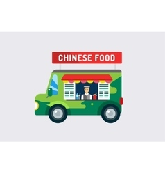 Chinese fast food objects objects set Meat vector