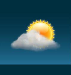 cloud sky weather background sun vector image