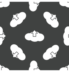 Cloud upload pattern vector image